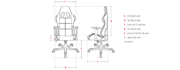 dimensioni sedia da gaming
